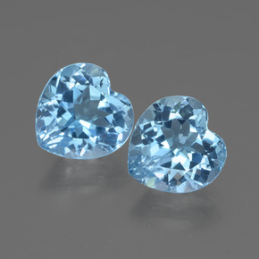 3.3ct Heart Facet Swiss Blue Topaz Gem (ID: 442961)