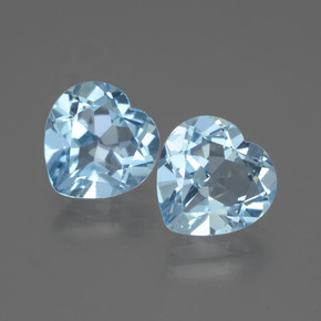 Swiss Blue Topaz Gem - 2.9ct Heart Facet (ID: 442963)