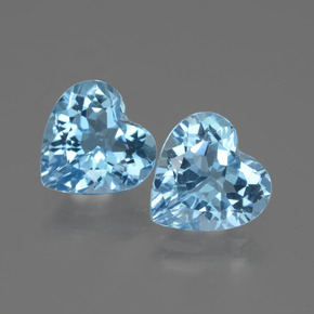 3ct Heart Facet Sky Blue Topaz Gem (ID: 442964)