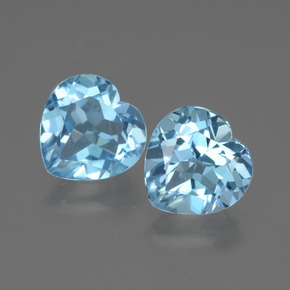 Swiss Blue Topaz Gem - 3ct Heart Facet (ID: 442966)