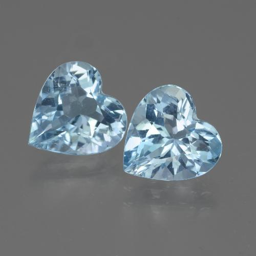Swiss Blue Topaz Gem - 2.9ct Heart Facet (ID: 442967)