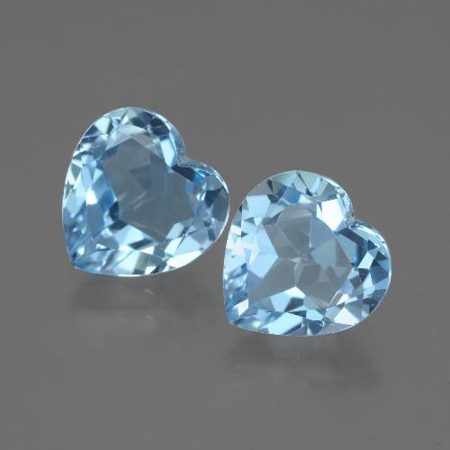 3ct Heart Facet Sky Blue Topaz Gem (ID: 442969)