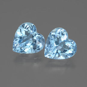 Sky Blue Topaz Gem - 2.8ct Heart Facet (ID: 442970)