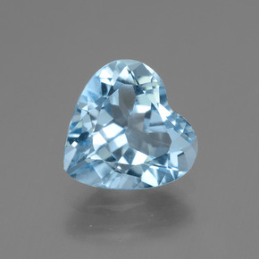 2.9ct Heart Facet Sky Blue Topaz Gem (ID: 443004)