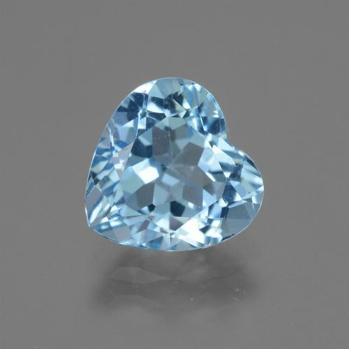 3ct Heart Facet Sky Blue Topaz Gem (ID: 443006)