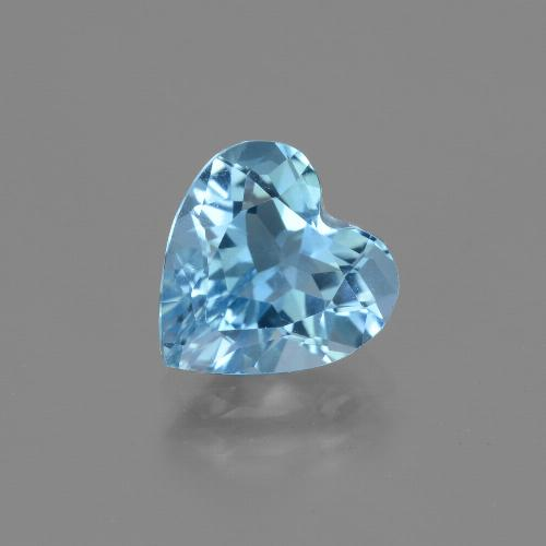 2.8ct Heart Facet Sky Blue Topaz Gem (ID: 443047)