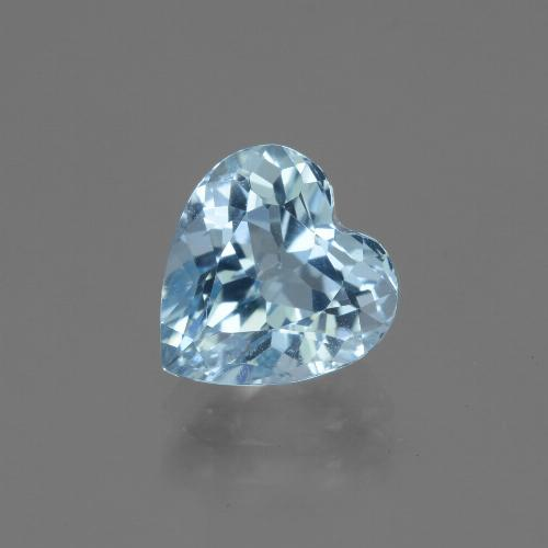3.2ct Heart Facet Sky Blue Topaz Gem (ID: 443048)