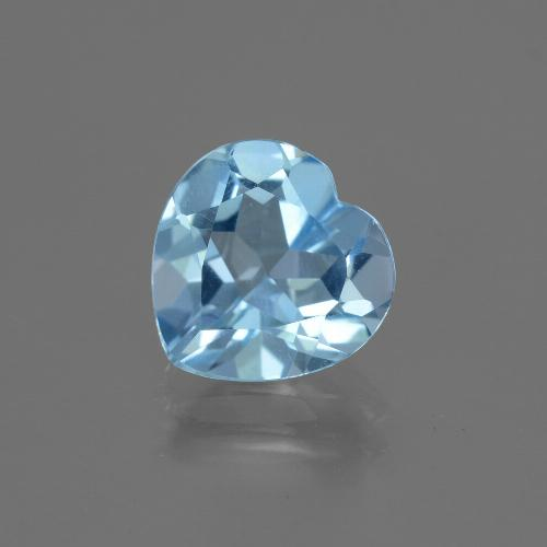 2.74 ct Heart Facet Sky Blue Topaz Gemstone 9.03 mm x 9.1 mm (Product ID: 443050)