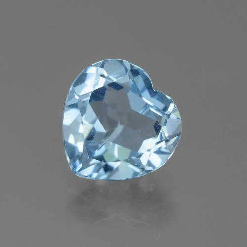 Swiss Blue Topaz Gem - 2.7ct Heart Facet (ID: 443099)