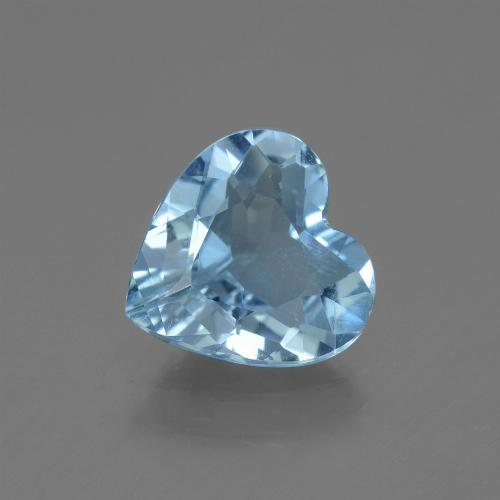 Swiss Blue Topaz Gem - 2.3ct Heart Facet (ID: 443103)