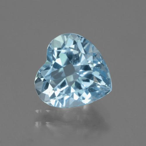Swiss Blue Topaz Gem - 3.3ct Heart Facet (ID: 443148)