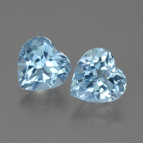 Swiss Blue Topaz Gem - 3.1ct Heart Facet (ID: 443191)