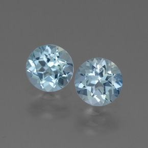 Light Maya Blue Topaz Gem - 1ct Round Facet (ID: 444129)