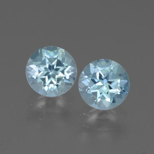 Swiss Blue Topaz Gem - 1ct Round Facet (ID: 444134)