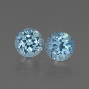 Swiss Blue Topaz Gem - 1.1ct Round Facet (ID: 444136)