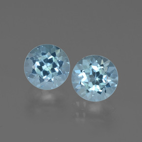 Swiss Blue Topaz Gem - 1.1ct Round Facet (ID: 444137)