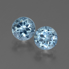 Swiss Blue Topaz Gem - 1.1ct Round Facet (ID: 444277)