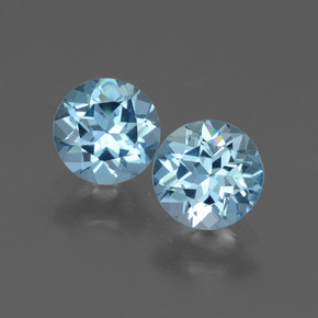 Swiss Blue Topaz Gem - 0.9ct Round Facet (ID: 444282)