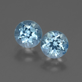 Swiss Blue Topaz Gem - 1ct Round Facet (ID: 444283)