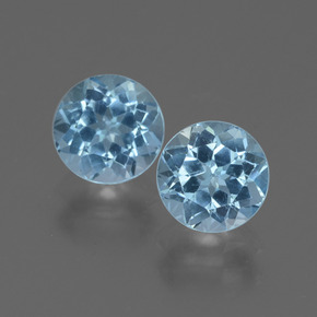 Swiss Blue Topaz Gem - 1.1ct Round Facet (ID: 444284)