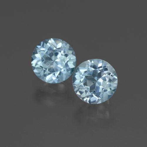 Swiss Blue Topaz Gem - 1.1ct Round Facet (ID: 444345)