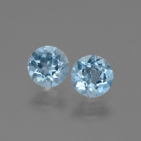 Light Blue Topaz Gem - 1ct Round Facet (ID: 444408)