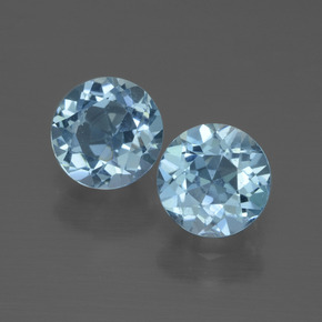 Swiss Blue Topaz Gem - 1.1ct Round Facet (ID: 444589)
