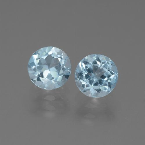 Sky Blue Topaz Gem - 1.1ct Round Facet (ID: 444748)