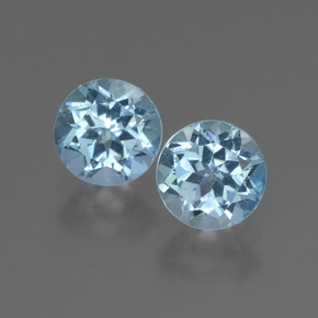 Sky Blue Topaz Gem - 1.1ct Round Facet (ID: 444782)