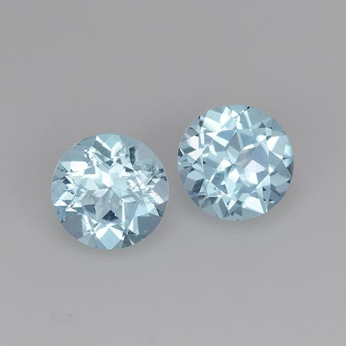 Swiss Blue Topaz Gem - 0.9ct Round Facet (ID: 444849)