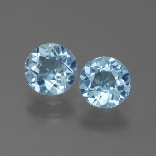 Swiss Blue Topaz Gem - 1ct Round Facet (ID: 444893)