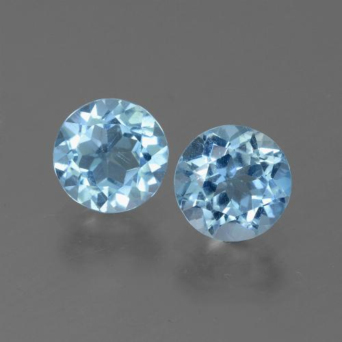 Swiss Blue Topaz Gem - 1.1ct Round Facet (ID: 444896)
