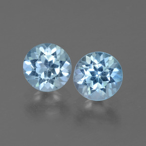 Baby Blue Topaz Gem - 1.1ct Round Facet (ID: 444897)