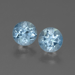 Swiss Blue Topaz Gem - 0.9ct Round Facet (ID: 444946)