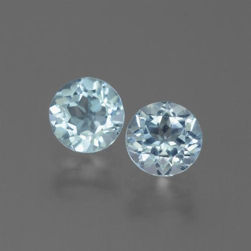 Swiss Blue Topaz Gem - 1.1ct Round Facet (ID: 444959)