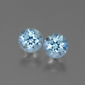Swiss Blue Topaz Gem - 1ct Round Facet (ID: 444968)