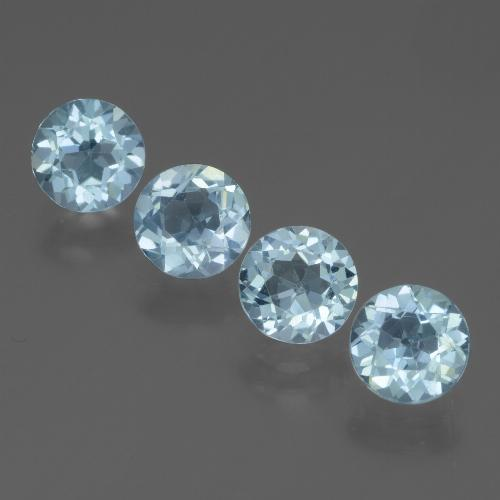 Swiss Blue Topaz Gem - 0.9ct Round Facet (ID: 444973)