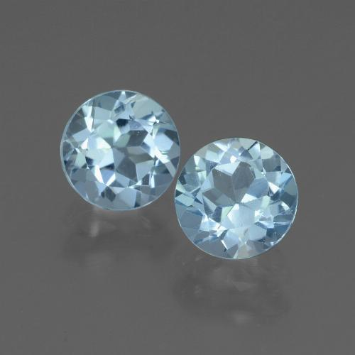 Swiss Blue Topaz Gem - 1.1ct Round Facet (ID: 444985)