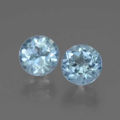 Swiss Blue Topaz Gem - 1.1ct Round Facet (ID: 444995)