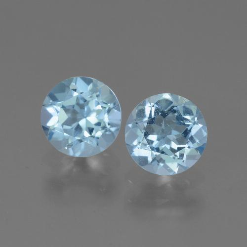 Swiss Blue Topaz Gem - 0.9ct Round Facet (ID: 444997)