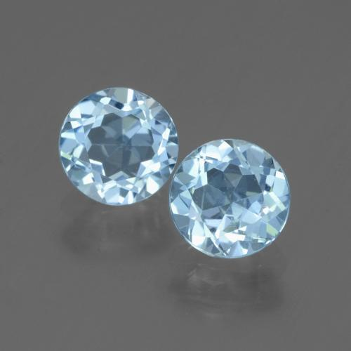 Swiss Blue Topaz Gem - 1.1ct Round Facet (ID: 445010)