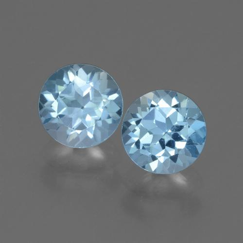 Swiss Blue Topaz Gem - 1.1ct Round Facet (ID: 445014)