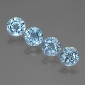 Swiss Blue Topaz Gem - 1ct Round Facet (ID: 445028)