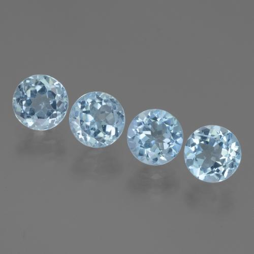 Light Blue Topaz Gem - 1.2ct Round Facet (ID: 445045)