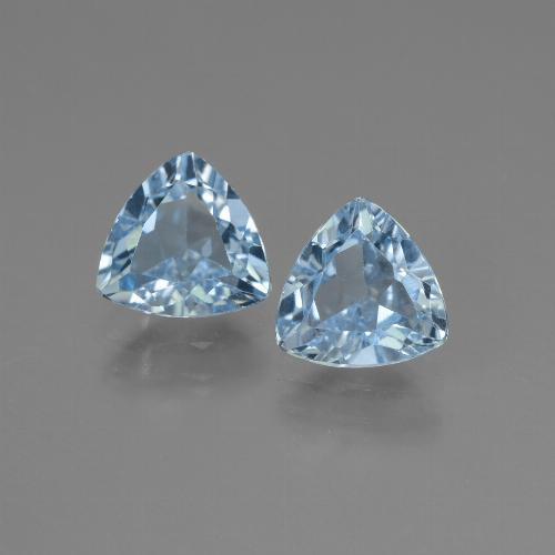 Swiss Blue Topaz Gem - 1.3ct Trillion Facet (ID: 445672)