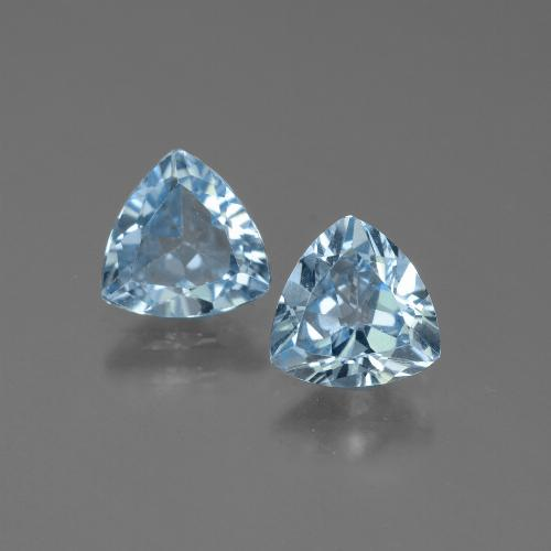 Baby Blue Topaz Gem - 1.3ct Trillion Facet (ID: 445675)