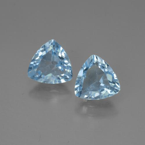 Swiss Blue Topaz Gem - 1.3ct Trillion Facet (ID: 445678)