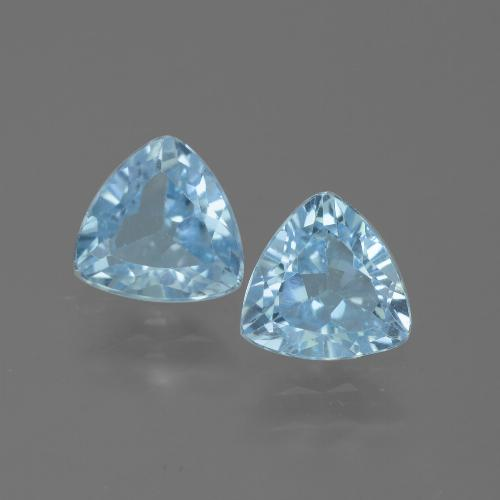 Swiss Blue Topaz Gem - 1.3ct Trillion Facet (ID: 445698)