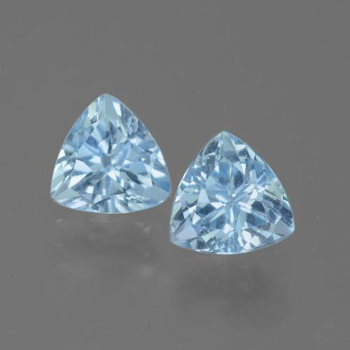 Baby Blue Topaz Gem - 1.5ct Trillion Facet (ID: 445699)