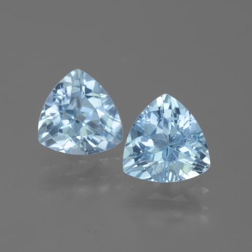 Swiss Blue Topaz Gem - 1.3ct Trillion Facet (ID: 445701)